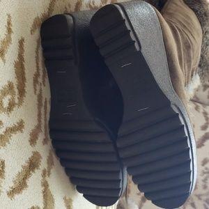 Coach Shoes - COACH Karita Suede & Natural Fur Wedge Heel Boots
